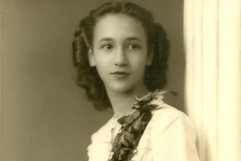 Miriam's grandmother Diane at her junior high school graduation (Courtesy photo)