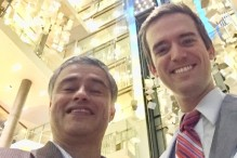 JFS COO Lino Covarrubias with board member Chase Carpenter (Courtesy photo)