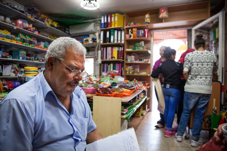 Muafak, owner of a stationary store (Courtesy Udi Goren)