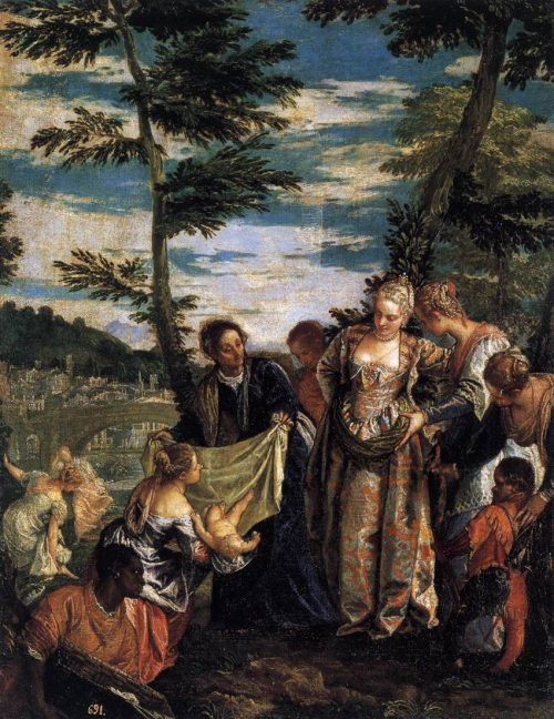 """Moses Found""Paolo Veronese"
