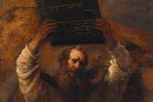 Moses Smashing the Tablets of the Law by Rembrandt