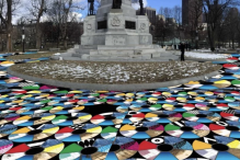 "A rendering of ""Pathways to Freedom"" on the Boston Common (Courtesy Jewish Arts Collaborative)"