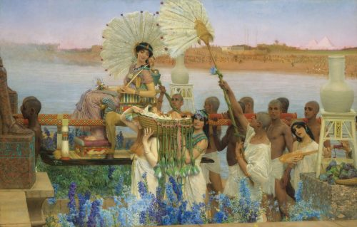 """The Finding of Moses""Lawrence Alma-Tadema"