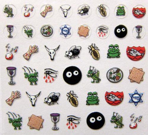 Ten Plagues Sticker Sheet