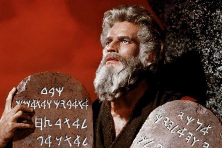 "Charlton Heston in ""The Ten Commandments"""