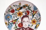 Handmade plate featuring Ruth Bader Ginsburg (rothshank/Etsy)