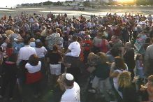 The first shofar blowout in 2004 (Courtesy photo)