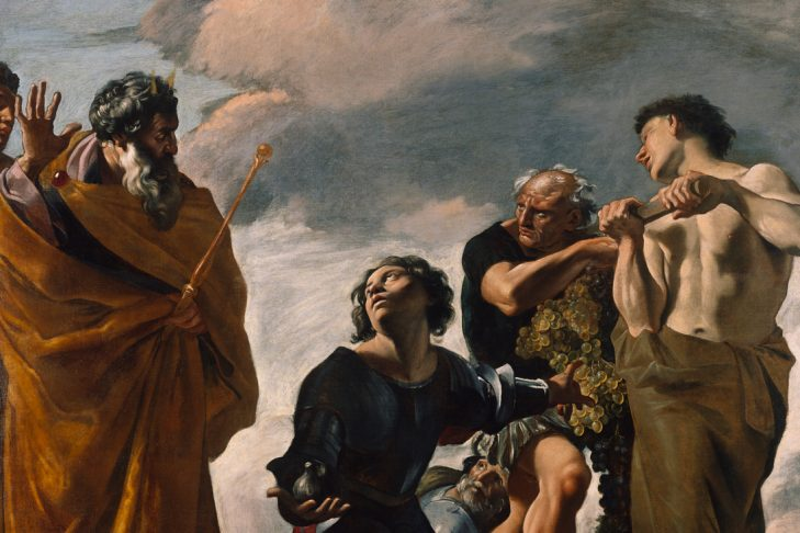 """""""Moses and the Messengers from Canaan"""" by Giovanni Lanfranco"""