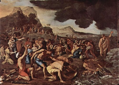 """The Crossing of the Red Sea""Nicolas Poussin"
