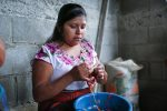 Woman from San Pablo making a kippah (Courtesy Mayan Hands)