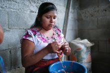 Woman from San Pablo making a kippah (Courtesy Mayan Hands)