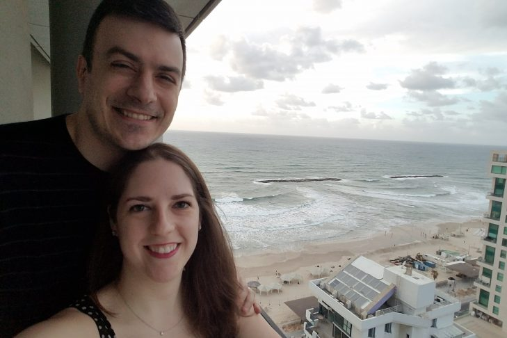 Alexis and her husband in Israel (Courtesy Alexis Salomone)