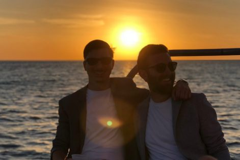 Mike and his husband in Israel (Courtesy Mike Iamele)