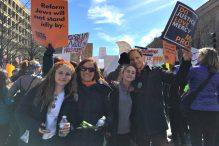 From left: Cate Pesner, Dana Gershon, Bobbie Pesner and Rabbi Jonah Pesner (Courtesy photo)