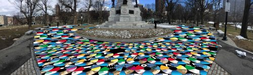 """An artist rendering of Julia Vogl's """"Pathways to Freedom: A Passover Public Art Project"""" (Courtesy Jewish Arts Collaborative)"""