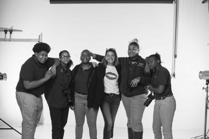 Brenda Bancel and her students (Courtesy Brenda Bancel)