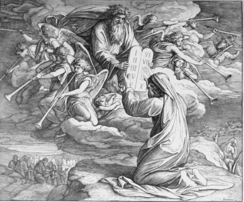 "(""Moses receives the Tablets"" by Julius Schnorr von Carolsfeld )"
