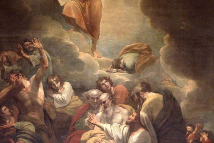 """""""Moses Receiving the Law on Mount Sinai"""" by Benjamin West"""