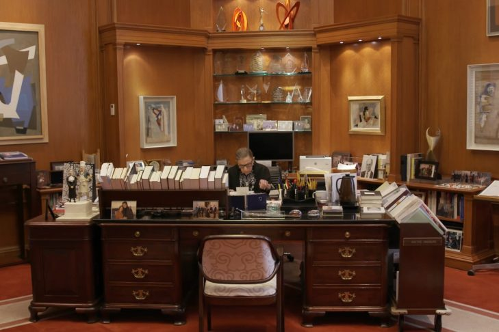 "Justice Ginsburg's office in a scene from ""RBG,"" a Magnolia Pictures release. (Courtesy Magnolia Pictures)"