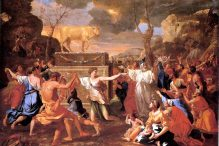 """The Adoration of the Golden Calf"" by Nicolas Poussin"