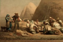 """""""Harvesters Resting (Ruth and Boaz)"""" by Jean-Francois Millet at the Museum of Fine Arts Boston"""
