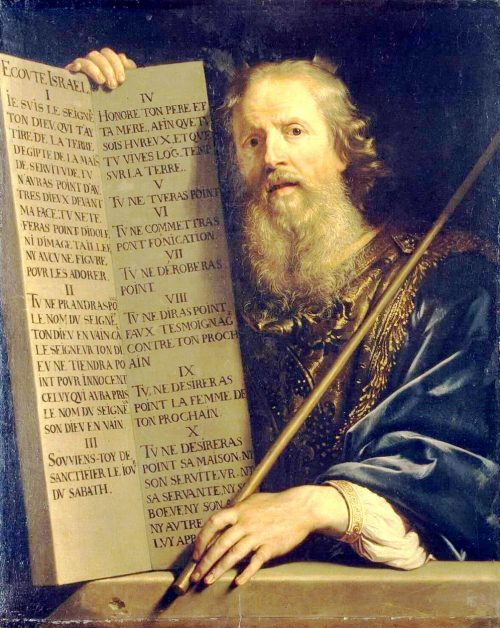 """""""Moses Presenting the Tablets of the Law"""" by Philippe de Champaigne"""