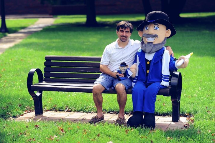 Neal Hoffman and The Mensch on a Bench (Courtesy photo)