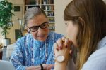 "Justice Ginsburg with her granddaughter, Clara (""RBG"" promotional still)"