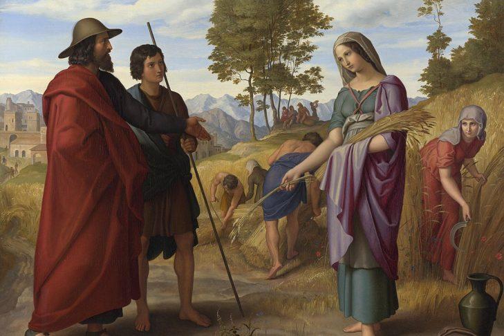 """""""Ruth in Boaz's Field"""" by Julius Schnorr von Carolsfeld (1928)"""