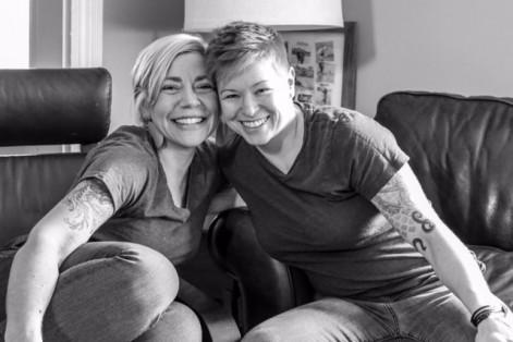 Jessica Alter, left, and her wife, Anastasia (Courtesy photo)