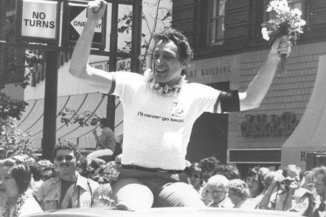 Harvey Milk (Photo: Ted Sahl/San Jose University Collection)