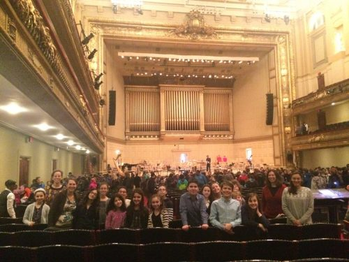 EHS students at Boston Symphony Orchestra
