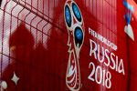 The logo of the FIFA World Cup 2018 is seen as the Saint Basil's Cathedral is seen at the background in Moscow before the 2018 FIFA World Cup Russia in Moscow, Russia on June, 2018. The FIFA World Cup 2018 will take place in Russia from 14 June until 15 July 2018. (Photo by Sefa Karacan/Anadolu Agency/Getty Images)