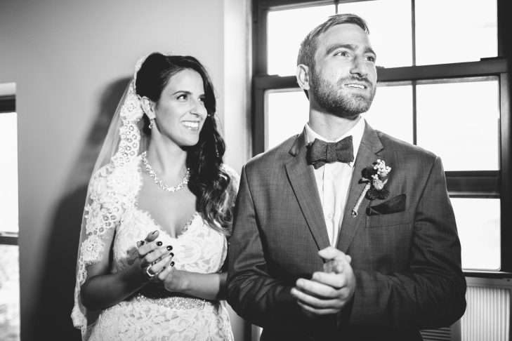 Anabelle Harari and Misha Clebaner on their wedding day (Courtesy photo)