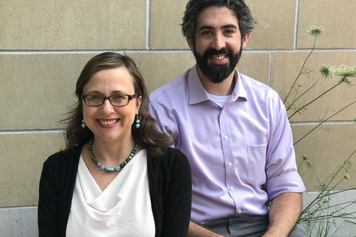 Rabbi Audrey Marcus Berkman and Assistant Rabbi Daniel Schaefer (Courtesy Temple Ohabei Shalom)