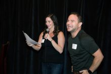 Committee chairs Emily Zoback and Ross Yellin (Courtesy CJP)
