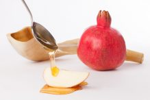 Apples, Honey, Pomegranate, and Shofar for Rosh Hashana