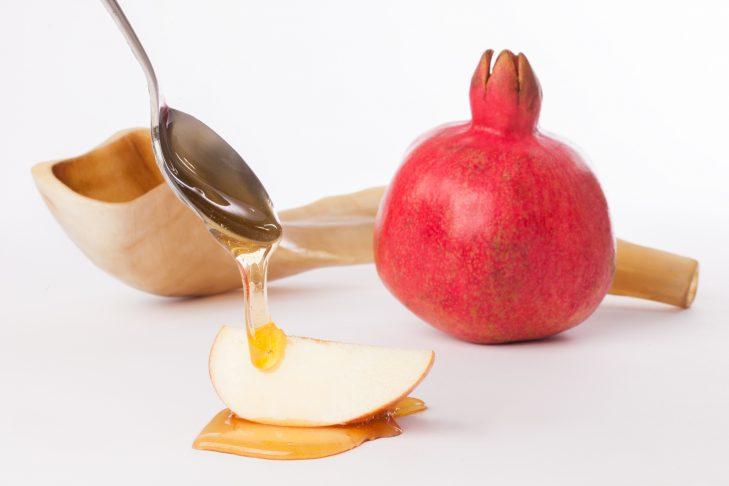 Apples, Honey, Pomegranate, and Shofar for Rosh Hashana