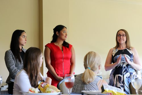 Lawyers from The Young Center share immigration stories with mission participants. (Photo: Craig Byer/CJP)