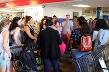Mission participants meet with asylum seekers (Photo: Craig Byer/CJP)