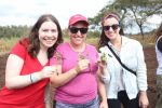 Jennifer Atlas (left) smiles for the camera at a peanut farm. (Courtesy photo)