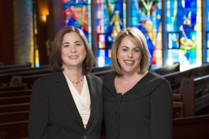 Rabbi Allison Berry, right, and Rabbi Laura Abrasley (Courtesy Temple Shalom)