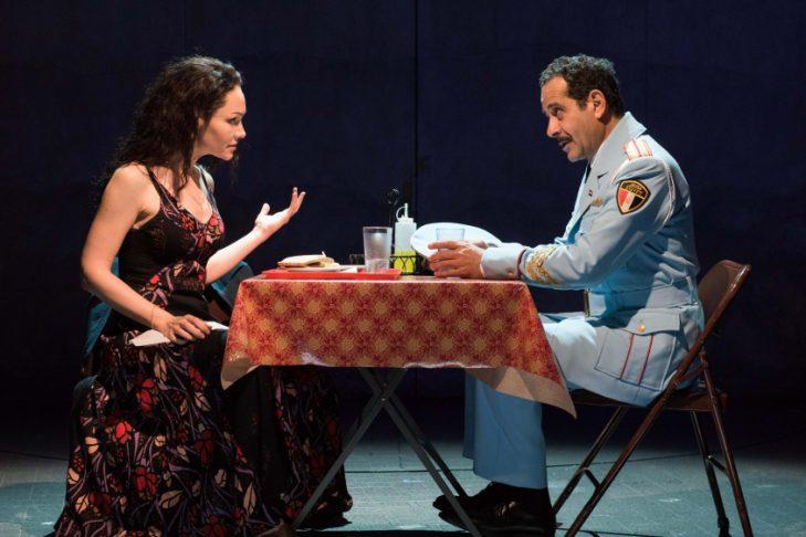 """Katrina Lenk and Tony Shalhoub in """"The Band's Visit"""" (Courtesy photo)"""