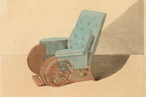 REFERRAL: An early-19th-century reclining wheelchair. (Credit: Hulton Archive/Getty Images)