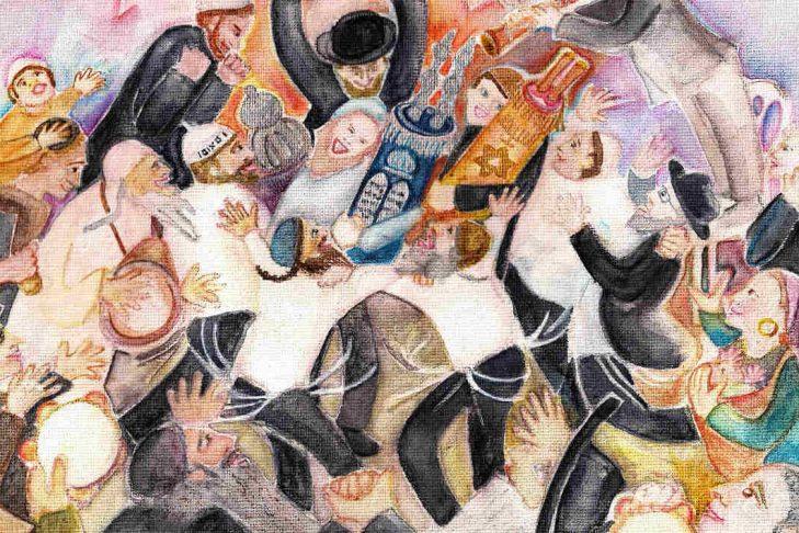(Painting: Chana Helen Rosenberg)