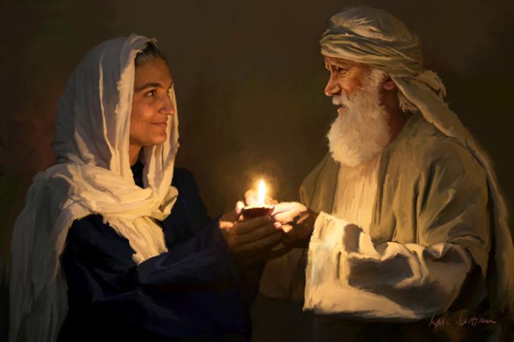"""Abraham and Sarah"" by Lars Justinen"
