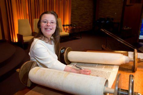 Ashley DeNoble at her bat mitzvah (Courtesy photo)