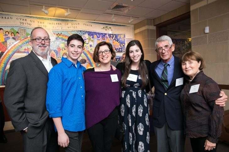 From left: Scott Cohen, Zev Cohen, Kathy Cohen, Mayta Cohen, David Fromm and Josene Steinberg (Courtesy photo)