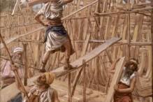 """Building the Ark"" by James Jacques Joseph Tissot"