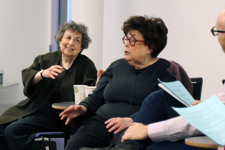 From left: Sheila Brass, Marilynn Brass and Dan Seligson (Photo: JewishBoston)
